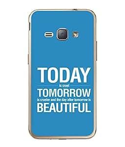 PrintVisa Designer Back Case Cover for Samsung Galaxy J1 (6) 2016 :: Samsung Galaxy J1 2016 Duos :: Samsung Galaxy J1 2016 J120F :: Samsung Galaxy Express 3 J120A :: Samsung Galaxy J1 2016 J120H J120M J120M J120T (Today Tomorrow Sayings Wordings )