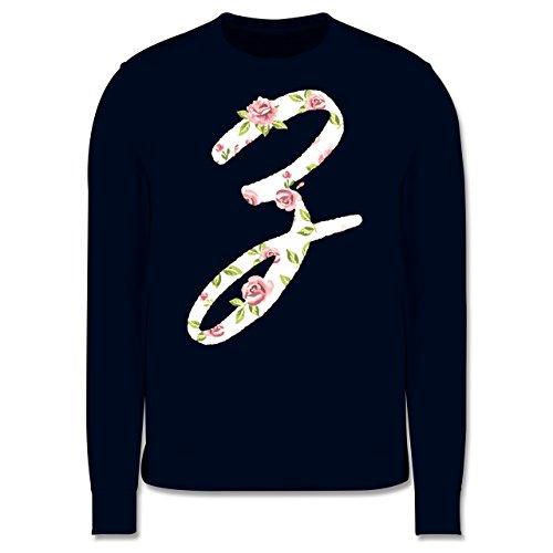 Anfangsbuchstaben - Z Rosen - Herren Premium Pullover Dunkelblau