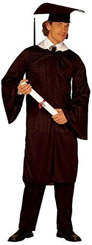 Widmann 44003 - Erwachsenenkostüm Absolvent, Gewand und Hut, Größe - Männer Toga-outfit