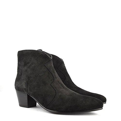 De Negras Bistro Cinza Boots Mulheres Ankle Hurrican Camurça Sapatos 8I0vwx8