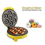 Machine à Beignets Appareil à Donuts Jaune, PP et Alliage de Titane, DIY à la Maison