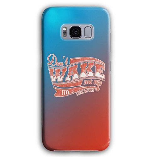 nicht Aufwachen Oben Faul Slogan Warnung 3D Galaxy S8 Plus Hülle | Wellcoda