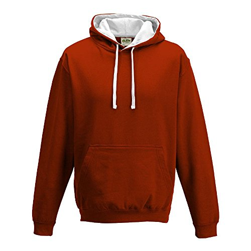 Just Hoods Varsity Sweat à capuche avec capuche couleur contrastée red - Fire Red/Arctic White
