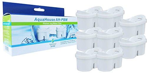 Aquahouse filtro per l'acqua cartucce compatibili con brita maxtra caraffe filtranti - 8 filtri