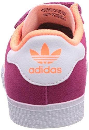 adidas Originals Gazelle 2 CF Unisex-Kinder Sneakers Violett (Bold Pink/Flash Orange S15/Ftwr White)