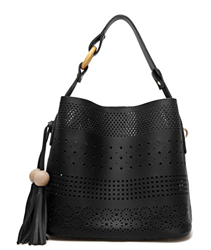 Yan Show, Borsa a tracolla donna marrone Brown Black