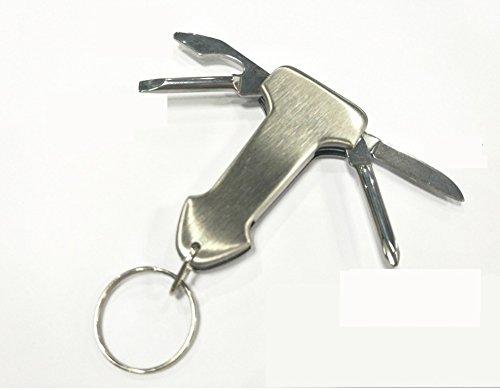 BINGVier in Einem Multifunktionsschlüsselkettenwerkzeug-Schraubenzieherklappmesser?ffner Kreative Ausrüstung im Freien