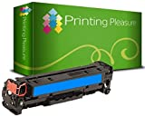 Printing Pleasure Cyan Toner kompatibel für HP Laserjet Pro 200 Color M251 n/nw MFP M276 n/nw Canon LBP7100CN LBP7110CW MF8230CN MF8280CW | CF211A 131X 131A 731 CRG731