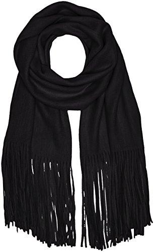 PIECES Damen Schal Pcdrace Long Scarf Schwarz (Black), One size