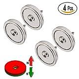 Neodym Disc Senkloch Magnete Seltenerdmagnete Mit 4 Schrauben 4 Stück Diameter x 36mm Topfmagnete