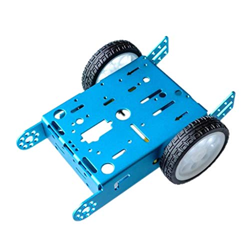 Sharplace Kit de Chasis de 2wd Metal Inteligente Coche Robot Gear Motor Juguete Educativo