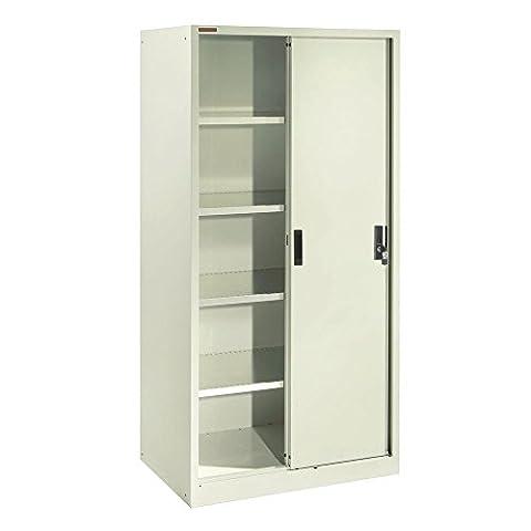 Cablematic - Classeur bureau métallique avec des portes coulissantes 900x2000x400mm