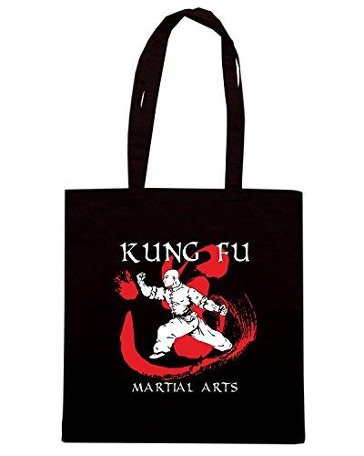 T-Shirtshock - Borsa Shopping T0399 kung fu arti marziali Nero