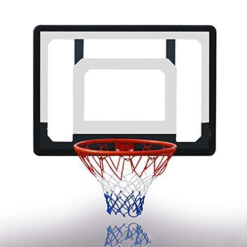 Wand Basketball Hoop Indoor Rim Combo, mit 31,5 in PVC Transparent Backboard, 15 in inneren Hoop, für Kleinkind Kinder Kind Jugend Jungen Mädchen Erwachsene Party Family Game