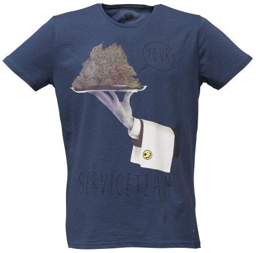 40by1, Herren T-Shirt, BONG Church Drugs Dope Weed Ganja, Street Couture, navy, 40/1-GAS-12-010, GR XXL