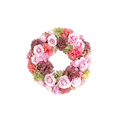 Pureday Dekokranz Florence - Blütenkranz - Rosa - ca. Ø 40 cm