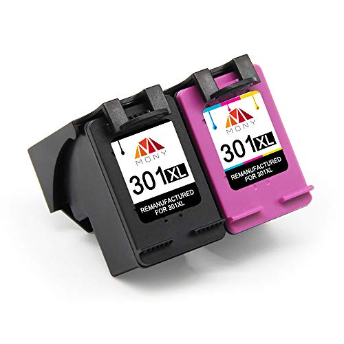 Mony Remanufactured Replacement Ink Cartridges for HP 301 301XL XL (Black 1, 1 Tricolor) Compatible with HP Deskjet 2540 1510 3050 2050 1512 1050 4500 5530 4502 Envy 4630 2620 Officejet Printers