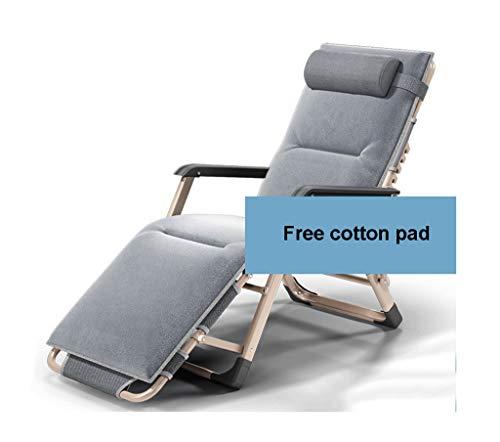 MAGF Multi-Speed-Klapp Bewegliche Freizeit Lehnenverstellung Faul Schlafsofa Balkon Stuhl Lehnstühle Mittagsschlaf (Color : Crystal Cotton mat Grey)