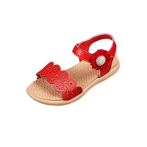 Baby Shoes,Ba Zha  Summer Children Infant Girls Flower Hollow Sandals Princess Casual Shoes Single Shoes Anti-slip Sneakers Summer Sandals Newborn Beachwear Flats Slip-On Sandals 1.5-6.5 Years Old
