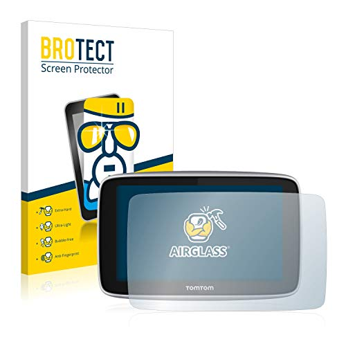 BROTECT Pellicola Vetro Compatibile con Tomtom Go Premium X - Vetro Prottetivo, Flessibile 9H, AirGlass