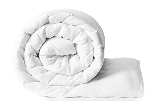 Clasiko Reversible Double Bed King Size Comforter/Duvet For Winters; Color - White; Fabric - Micro Cotton; 300 Gsm; Size - 230X254 Cms