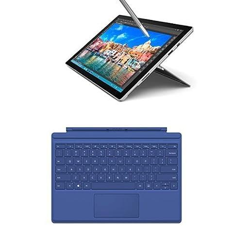 Microsoft Surface Pro 4 31,24 cm (12,3 Zoll) Tablet-PC (Intel Core i5, 8GB RAM, 256GB, Intel HD Graphics, Windows 10 Pro, Microsoft QC7-00024 Surface Pro 4 Type Cover) blau
