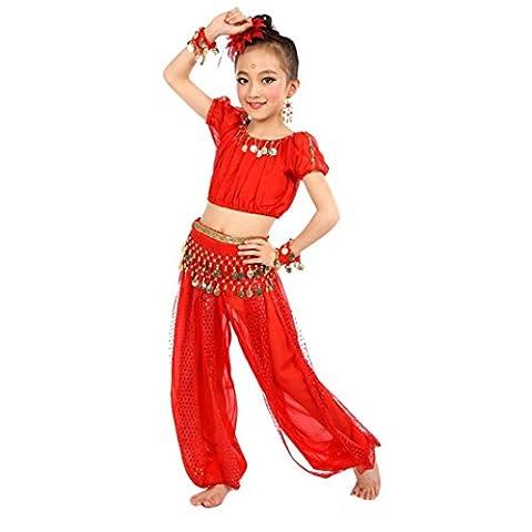 Vovotrade Enfants Filles Faits à la Main Costumes de Danse du Ventre Danse du Ventre pour Enfants (Size:L,