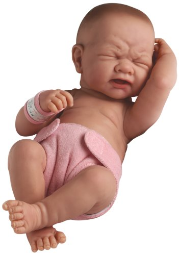 """Newborn Baby Anatomically Correct Real Girl Baby Doll 36 cm - All Vinyl """"First Tear"""" Designed by Berenguer - Made in Spain"""