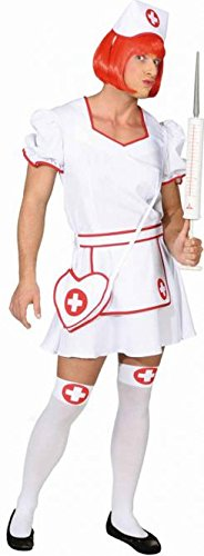 Männer Kostüm Krankenschwester - Panelize Krankenschwester Herrenkrankenschwester Junggesellenabschied Männerkleid (50/52)