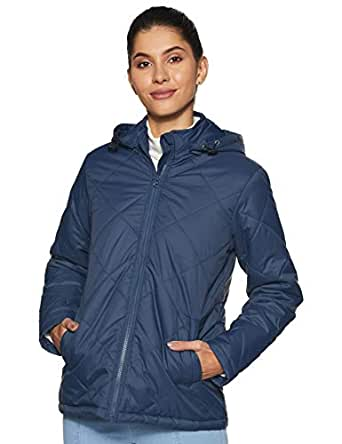 Amazon Brand - Symbol Women's Quilted Jacket (AW19KJ001_Light Navy_X-Large)