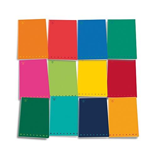 Pigna monocromo 02217794f, quaderno formato a4, rigatura 4f, quadretti 4 mm con margine per 4° e 5° elementare medie e superiori, carta 80g/mq, pacco da 10 pezzi