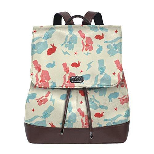 Flyup Women's Leather Backpack Magic Fashion Shoulder SchoolBag PU Travel Bag Frauen Leder Rucksack - Aus Leder Bradley Handtaschen Vera