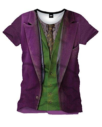 Lizenziertes Dark Knight Joker T-Shirt (The Joker Dark Outfit Knight)