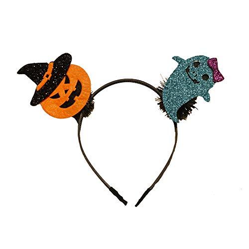YWLINK Halloween-Stirnband Süß Cartoon Haarband KüRbis-Kopfbedeckung Halloween Dekoration FüR Damen MäDchen(A,Einheitsgröße)
