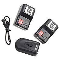 MagiDeal PT-04GY Wireless 4 -Channels Flash Trigger Receiver With 2 Receiver For DSLR Camera