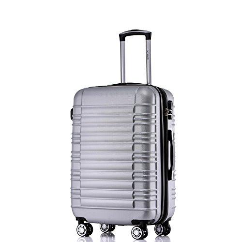 BEIBYE Zwillingsrollen Hardcase Reisekoffer Koffer Trolleys Hartschale in XL-L-M in...
