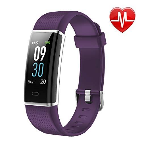 Pruvansay Fitness Tracker mit Pulsmesser, Fitness Armband Color Screen Activity Tracker Fitness-Uhr Wasserdicht IP68 Wetteranzeige Schlaf-Monitor Kalorienzähler Anruf SMS Whatsapp, Schrittzähler Kabel Sw Net