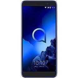 ALCATEL 5008 1X 2019, Smartphone, LTE, Android 8.1 (Oreo), Capacité: 128 GB, écran IPS, HD+, 2.5D 16M Colori 5.5 Pouces, Camera 13+2 MP, AF, flah LED (16 MP interp.), Blue [Italia]