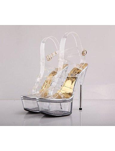 WSS 2016 Chaussures Femme-Mariage / Décontracté / Soirée & Evénement-Transparent-Talon Aiguille-Talons / A Plateau / Escarpin Basique / Bout white-us8 / eu39 / uk6 / cn39