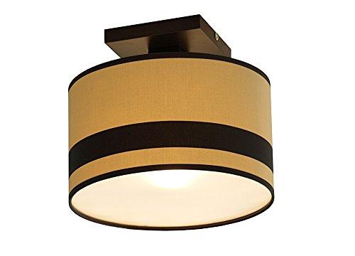 Dunkle Cappuccino-holz (Wero Design Deckenlampe Deckenleuchte Leuchte Lampe Holzlampe Holz Lampenschirmen-MALA-008/B Cappuccino-Schwarz Streifen)