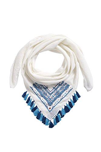 edc by ESPRIT - Foulard - Femme Blanc - Weiß (OFF WHITE 110)