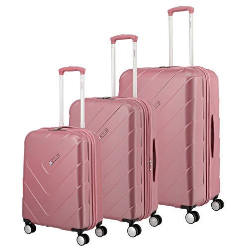 """Travelite Hartschalen-Koffer-Serie \""""KALISTO\"""" von travelite in 4 Farben: topmodisch, elegant, robust, 76 cm, 216L, Rosé"""