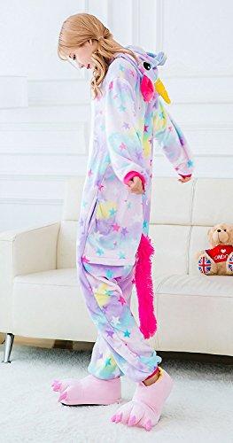 Imagen de cozofluv pijama animal unicornio entero para adultos pijama mono animal para mujer hombre disfraz para navidad con capucha invierno franela estrella, xl  alternativa