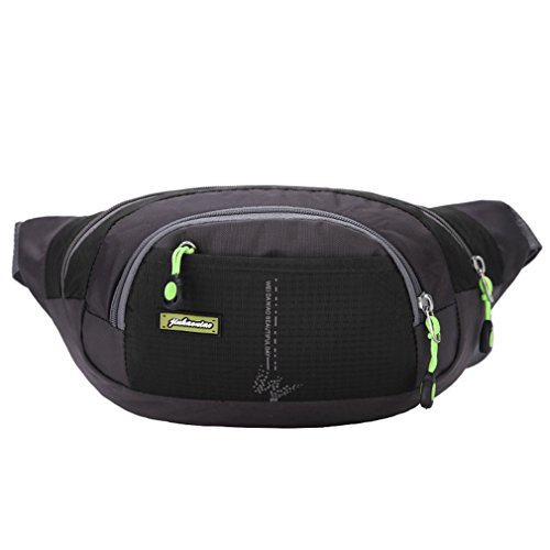emansmoer Unisex Sac de taille Sac banane Daypack Besace Multifonction Outdoor Sport Randonnée Trekking Course à pied Sac
