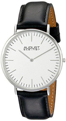 41%2B5KyIfKiL - August Steiner Silver Mens AS8084XBK watch
