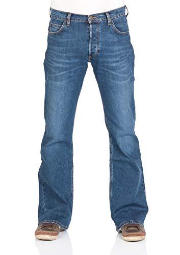 Lee Herren Jeans Jeanshose Denver Bootcut Denim Stretch Hose 85% Baumwolle Blau w30-w44, Größe:W 33 L 32, Farbvariante:Aged Alva (HDBG)