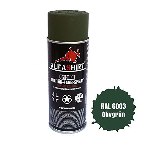 Farb Spray Ral 6003 Olivgrün Wh Apfelgrün Stahlhelm Tarnung Farbe Lack Restauration totalmatt für Panzer - Farbe für Militärfahrzeuge Militär Fahrzeug KFZ LKW Oldtimer Restaurieren und Lackieren #12688