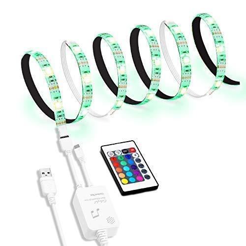 Led TV Hintergrundbeleuchtung, 2M USB Led Beleuchtung Hintergrundbeleuchtung Fernseher USB für 40 bis 60 Zoll HDTV,TV-Bildschirm und Küchenschrank Wandschrank Zimmer Deko,Led Strip