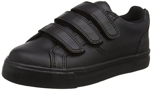 Kickers Unisex Kids' Tovni Trip Trainers, Black (Black), 4 UK 37 EU