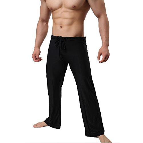 Yoga Hose Herren Lange Schlaf Hosen Sport Hosen Weiche Strick Pyjama Test